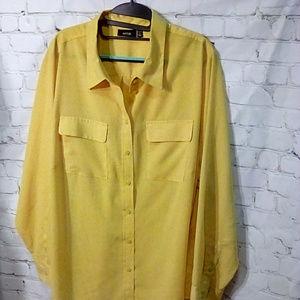 APT 9 Size 2X gold tunic length blouse